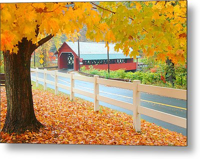Metal Print featuring the photograph Creamery Bridge by Paul Miller