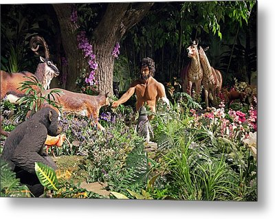 Creation Museum Exhibit Metal Print by Jim West
