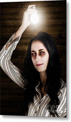 Creepy Attic Girl With Bright Halloween Ideas  Metal Print by Jorgo Photography - Wall Art Gallery