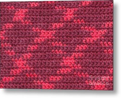 Crochet With Variegated Yarn Metal Print by Kerstin Ivarsson