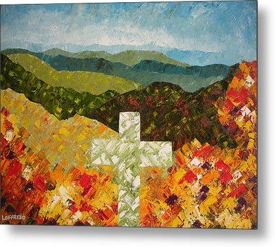 Cross Of The Colorful Ridges Metal Print by Ralph Loffredo