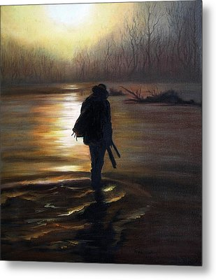 Crossing The River Metal Print by Vesna Martinjak