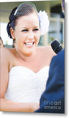 Crying And Laughing Bride Metal Print by Jorgo Photography - Wall Art Gallery