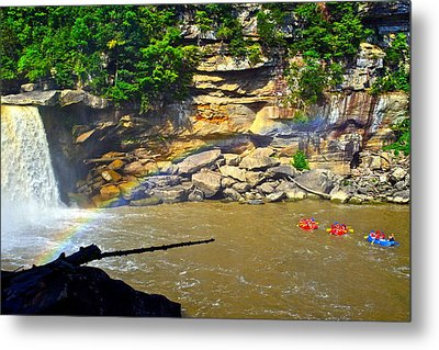 Cumberland Falls Rainbow Metal Print by Frozen in Time Fine Art Photography