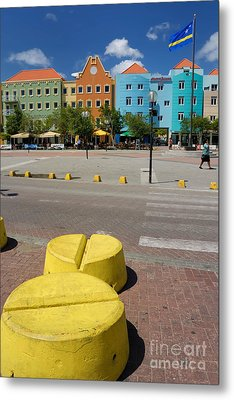 Curacaos Colorful Architecture Metal Print