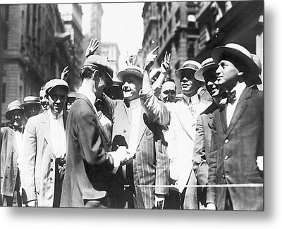Curb Brokers Metal Print by Library Of Congress