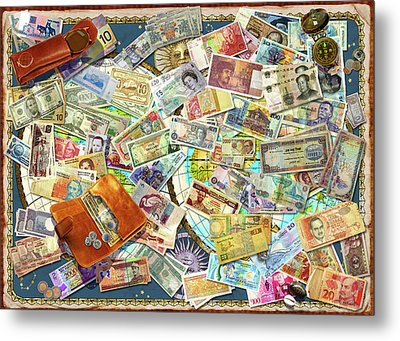 Currency Map Metal Print by Garry Walton