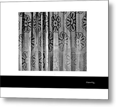 Curtained Window Metal Print by Xoanxo Cespon