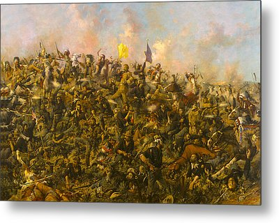 Custers Last Stand Metal Print by Edgar S Paxson