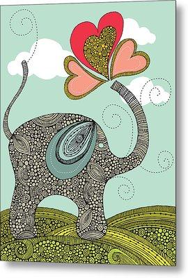 Cute Elephant Metal Print