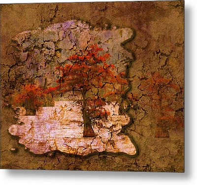 Cypress - Abstract Metal Print by J Larry Walker
