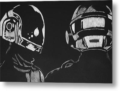 Daft Punk Metal Print by Trevor Garner