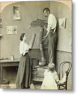 Daily Life Chores, C1897 Metal Print by Granger