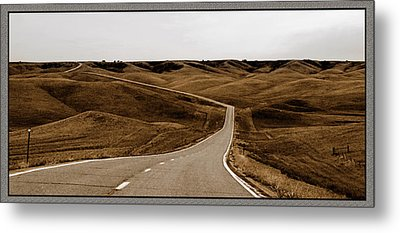 Dakota Highway 1804 Metal Print