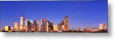 Metal Print featuring the photograph Dallas At Dawn by David Perry Lawrence