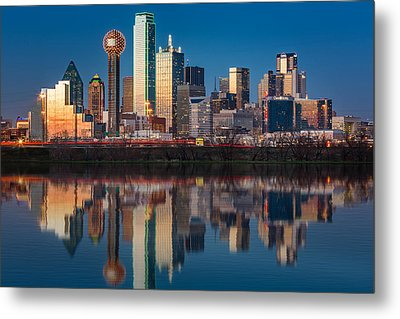 Dallas Skyline Metal Print by Mihai Andritoiu