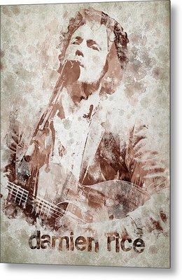 Damien Rice Portrait Metal Print by Aged Pixel