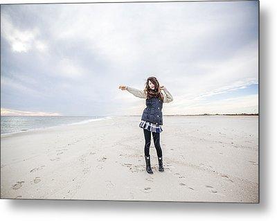 Dance At The Beach Metal Print