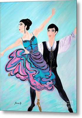 Metal Print featuring the painting Dance. Inspirations Collection. by Oksana Semenchenko