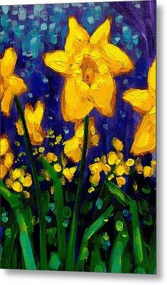 Dancing Daffodils Cropped  Metal Print