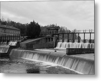 Daniel Pratt Cotton Mill Dam Prattville Alabama Metal Print by Charles Beeler