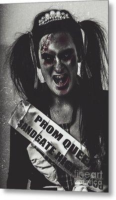 Dead Prom Queen At High School Reunion  Metal Print
