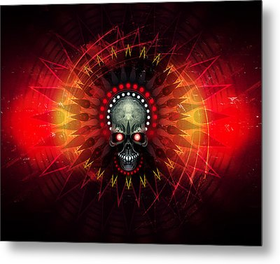 Deadstep - Hellfire Remix Metal Print by George Smith