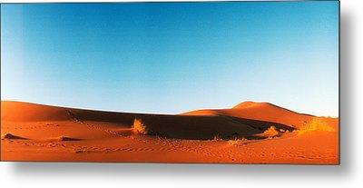 Desert At Sunrise, Sahara Desert Metal Print