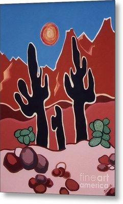 Desert Heat Metal Print by Joyce Gebauer