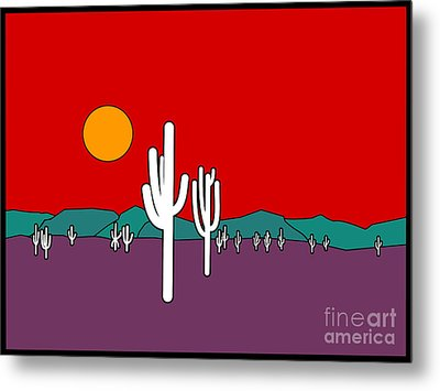 Desert Sunset Metal Print by Methune Hively