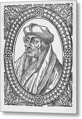 Desiderius Erasmus, Dutch Theologian Metal Print by Middle Temple Library