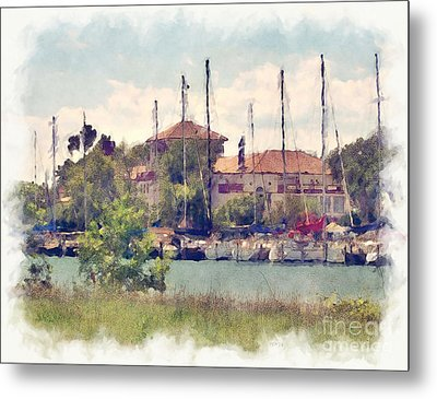 Detroit Yacht Club Metal Print by Phil Perkins
