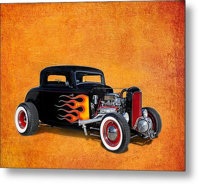 Deuce Coupe 1932 Ford Metal Print by Robert Jensen