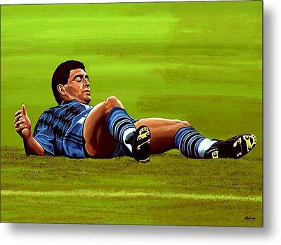Diego Maradona Metal Print by Paul Meijering