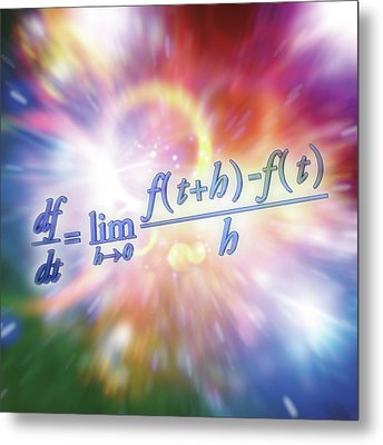 Differential Calculus Equation Metal Print by Alfred Pasieka