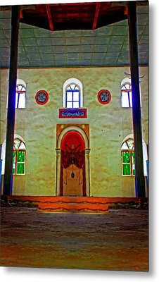 Digital Painting Of A Colouful Derelict Turkish Mosque Metal Print