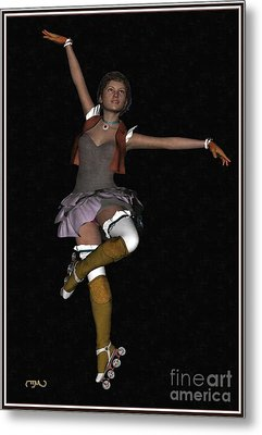 Ballet On Skates 1bos1 Metal Print by Pemaro