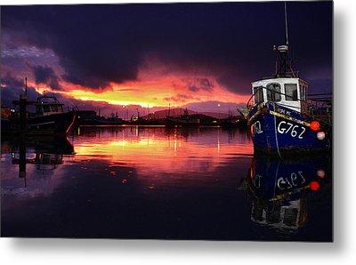 Dingle Harbour Sunset Metal Print