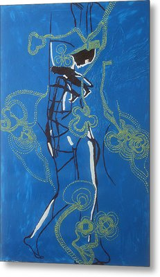 Dinka Painted Lady - South Sudan Metal Print by Gloria Ssali