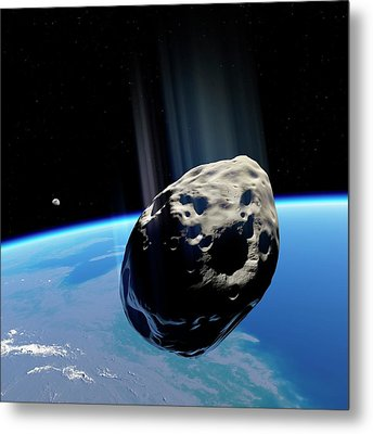 Dinosaur Extinction Asteroid Metal Print