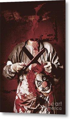 Disturbed Evil Boogieman Without Head Metal Print