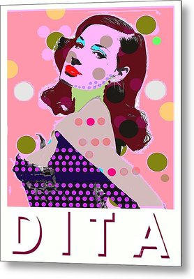 Dita Metal Print by Ricky Sencion