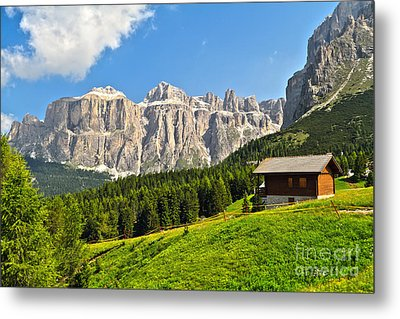 Dolomiti - High Fassa Valley Metal Print by Antonio Scarpi