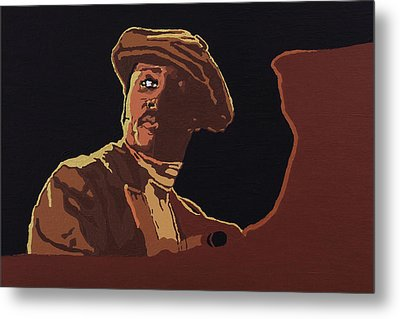 Metal Print featuring the painting Donny Hathaway by Rachel Natalie Rawlins