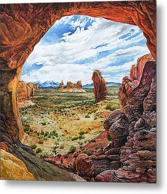 Metal Print featuring the painting Double Arch by Aaron Spong