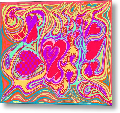 Double Broken Heart Metal Print by Kenneth James