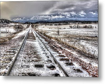 Down The Tracks Metal Print by Michele Richter