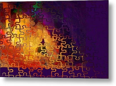 Dragon's Teeth Puzzle Metal Print