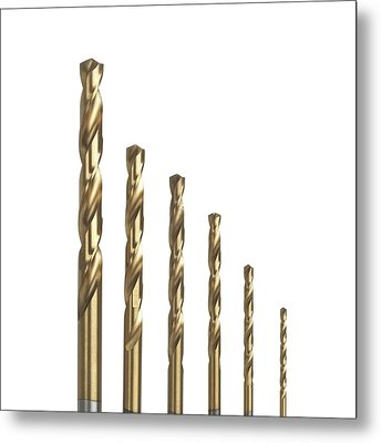 Drill Bits Metal Print by Science Photo Library