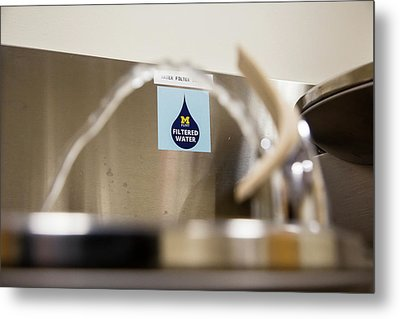 Drinking Water Filtration Sign Metal Print by Jim West